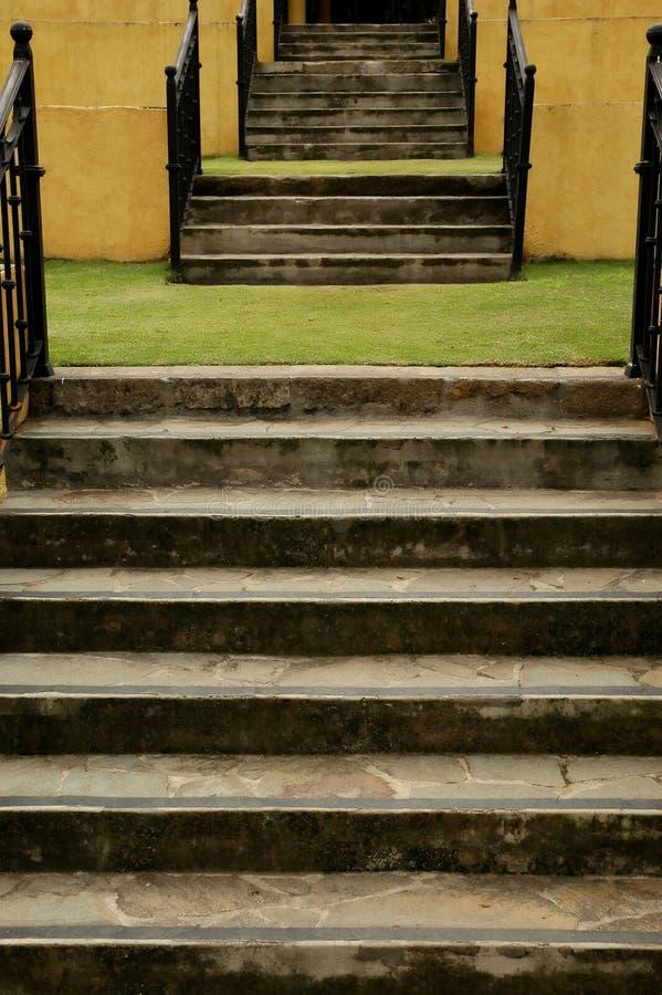 Escaliers de jardin photographie stock