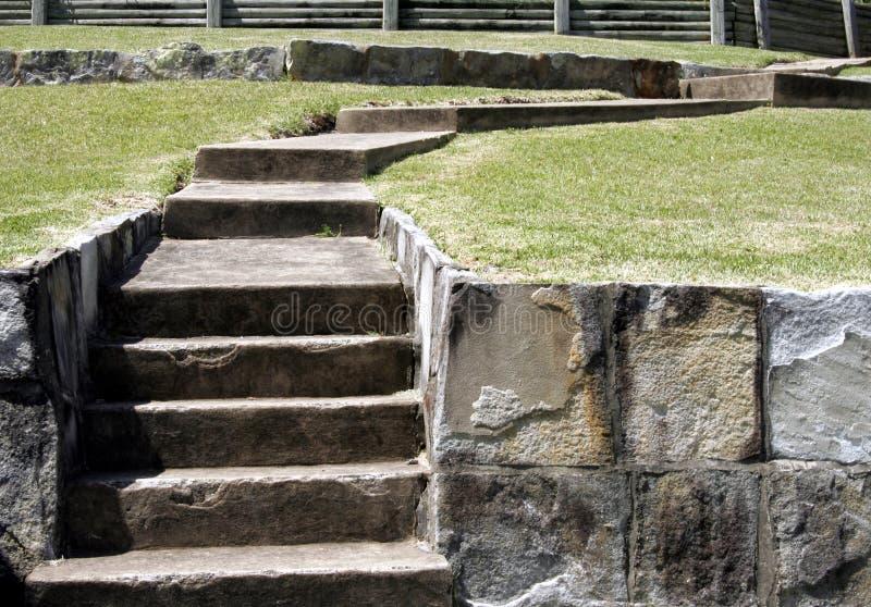 Escaliers de jardin photographie stock libre de droits