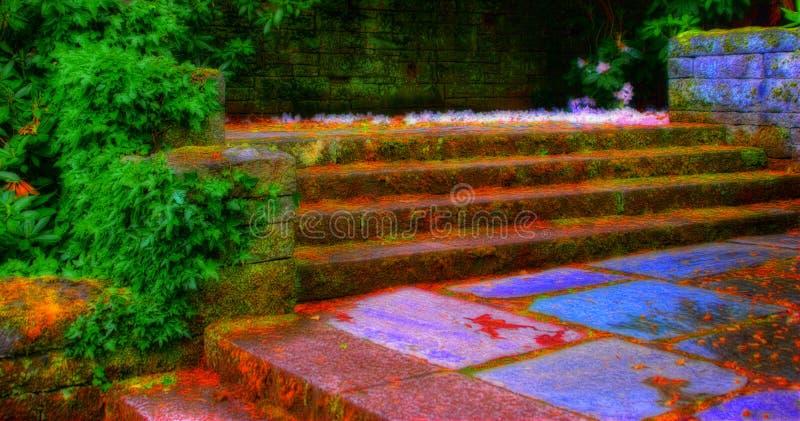 Escaliers de jardin photos stock