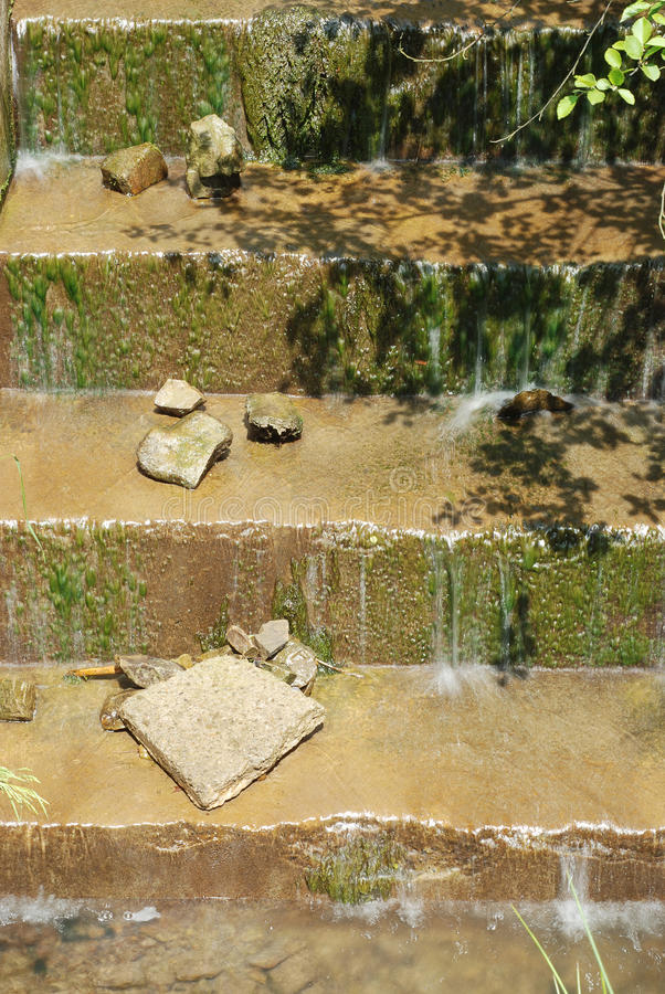 Escaliers de l'eau images libres de droits