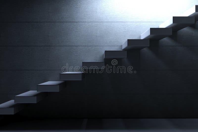 Escaliers de la colle sur le fond concret illustration libre de droits