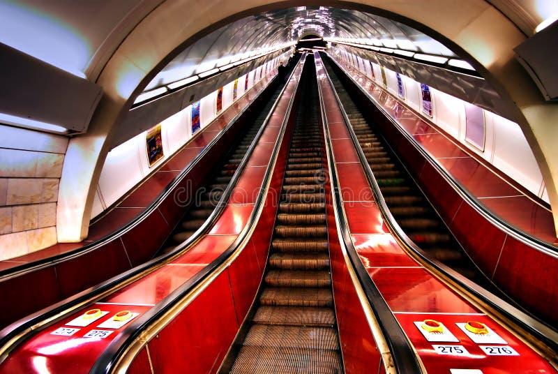 escaliers de métro photographie stock