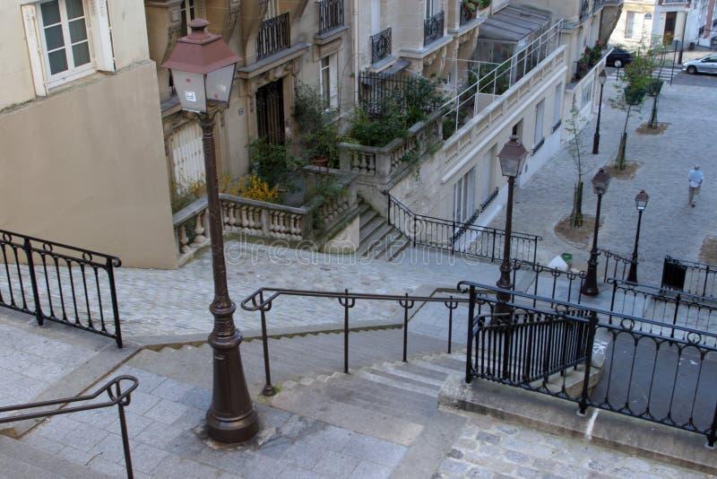 Escaliers de Montmartre, Paris photo libre de droits