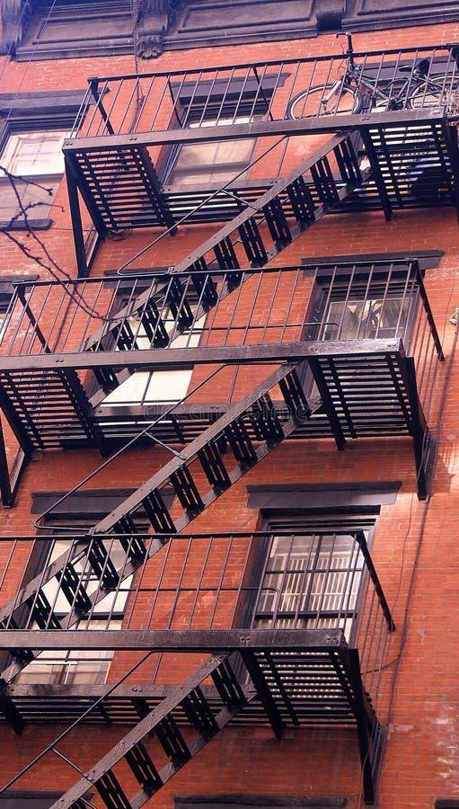 escaliers de new york image stock image du construction 14150895. Black Bedroom Furniture Sets. Home Design Ideas