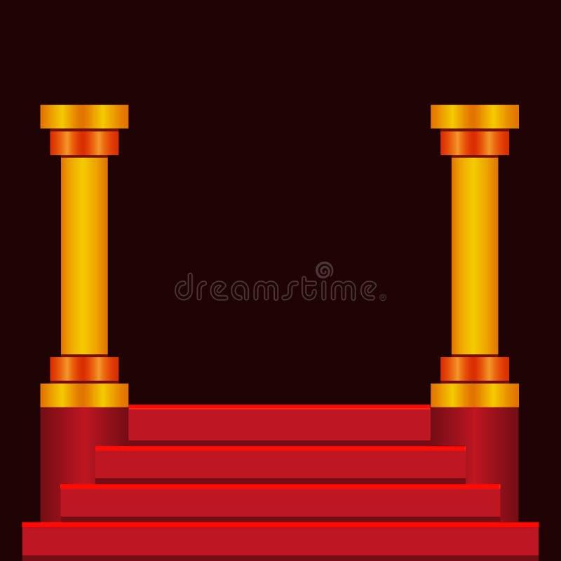 Escaliers de podium d'étape illustration libre de droits