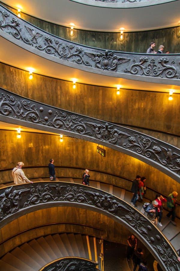Escaliers de spirale de Vatican photo stock