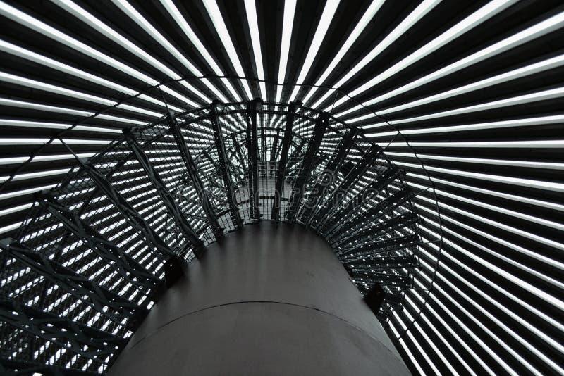 Escaliers de tour de surveillance image stock