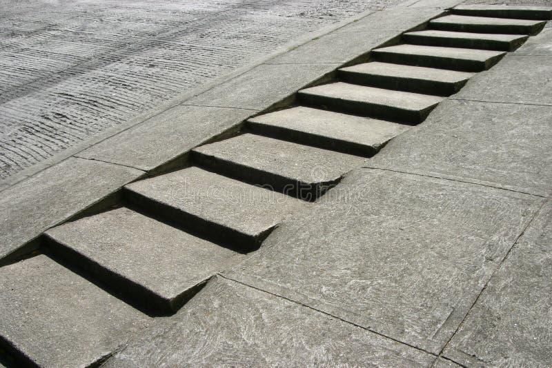 Escaliers de trottoir photographie stock