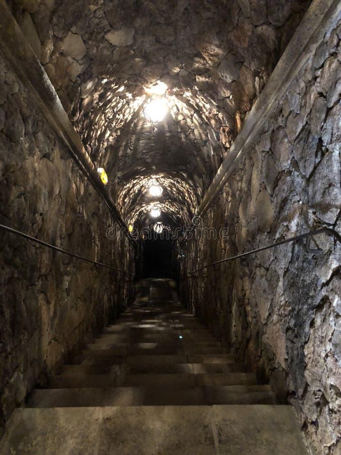 Escaliers descendant à la cave photo libre de droits