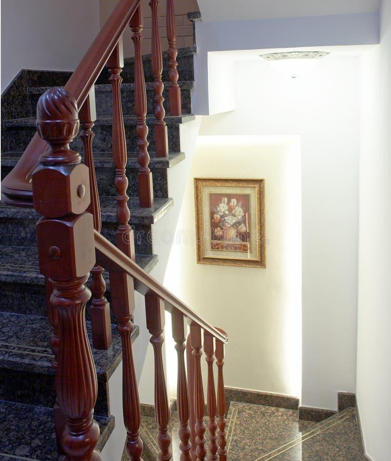 escaliers en bois photo stock image du vert spirale. Black Bedroom Furniture Sets. Home Design Ideas