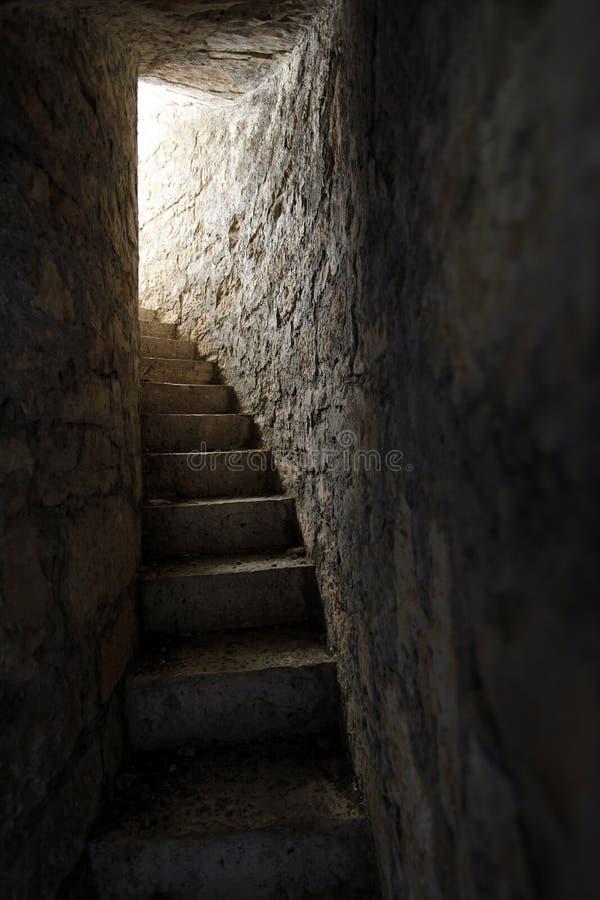 Escaliers en pierre photo libre de droits