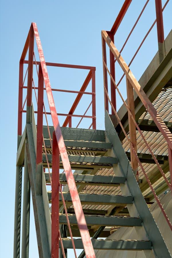 Escaliers industriels. image stock