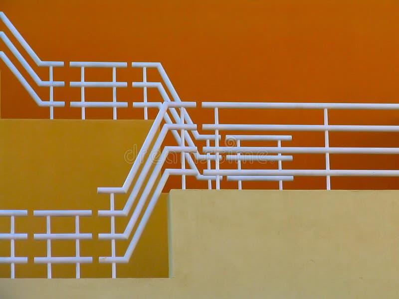 Escaliers jaunes photo stock