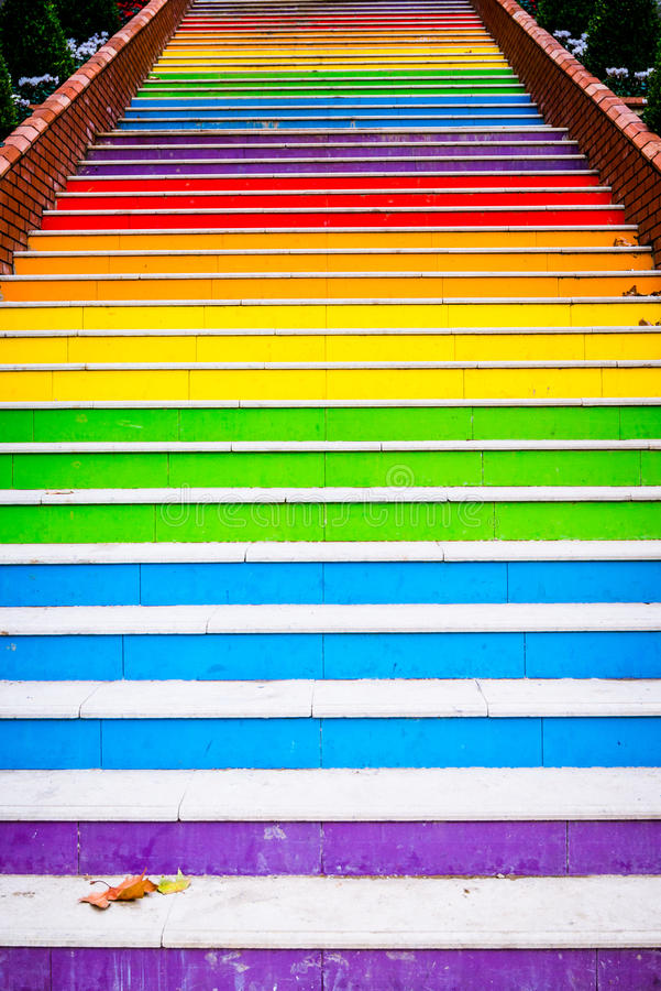 Escaliers peints photos stock