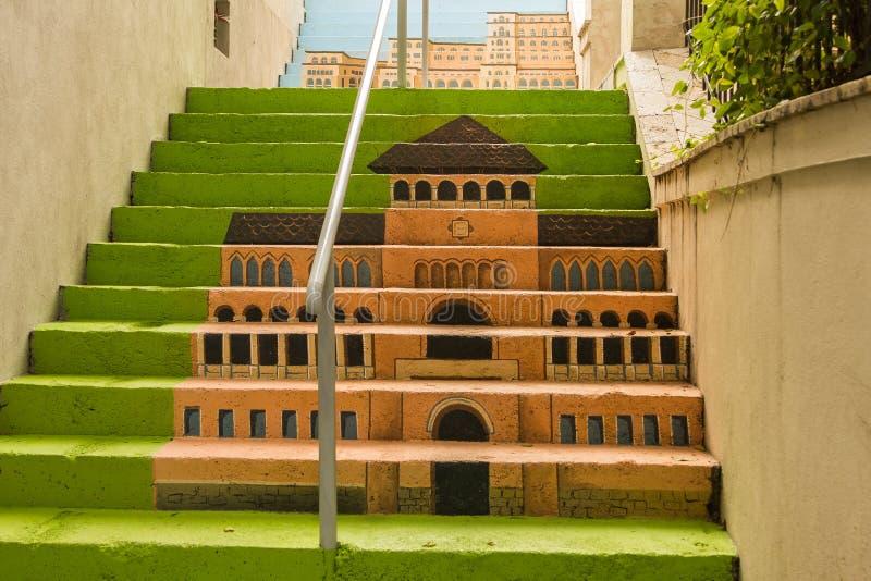 Escaliers Peints - Musée Du Paysan Roumain Photographie éditorial ...