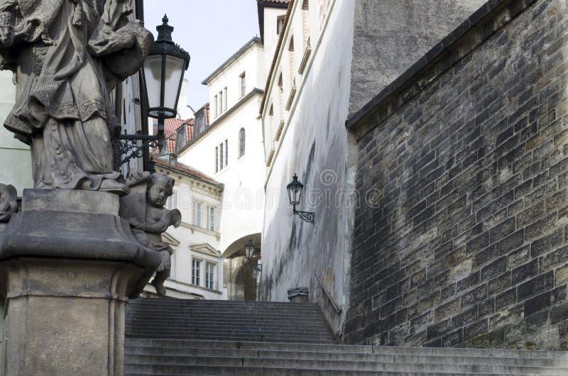 Escaliers royaux à Prague image stock