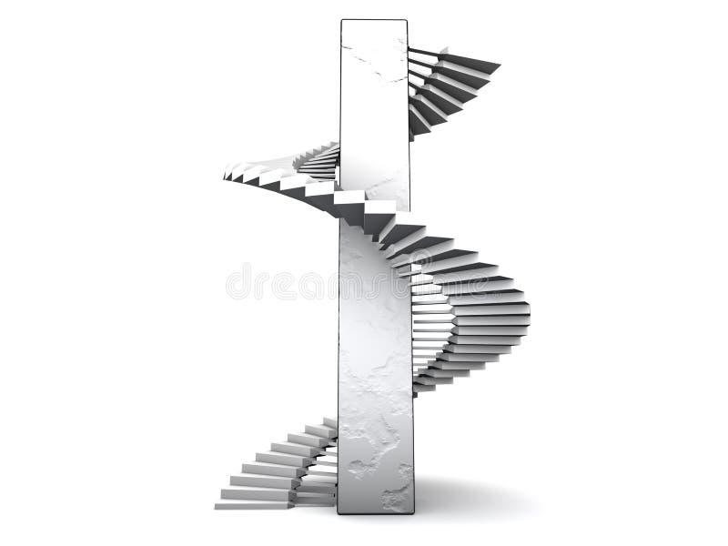 Escaliers spiralés illustration stock