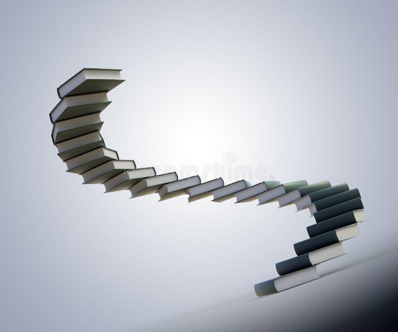 Escaliers spiralés fabriqués à partir de des livres illustration libre de droits