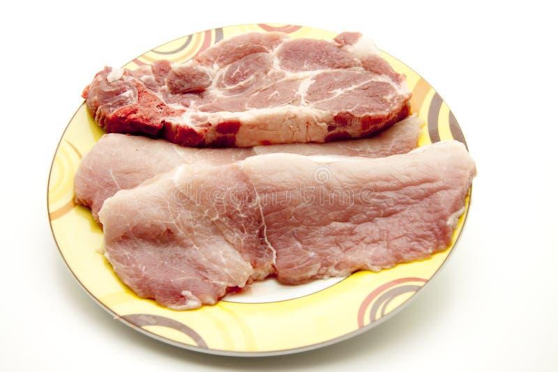 escalope chop сырцовый стоковая фотография rf