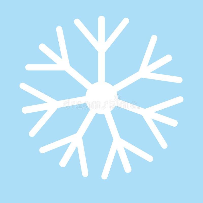 Escama de la nieve Copo de nieve blanco en el vector azul eps10 del fondo ilustración del vector