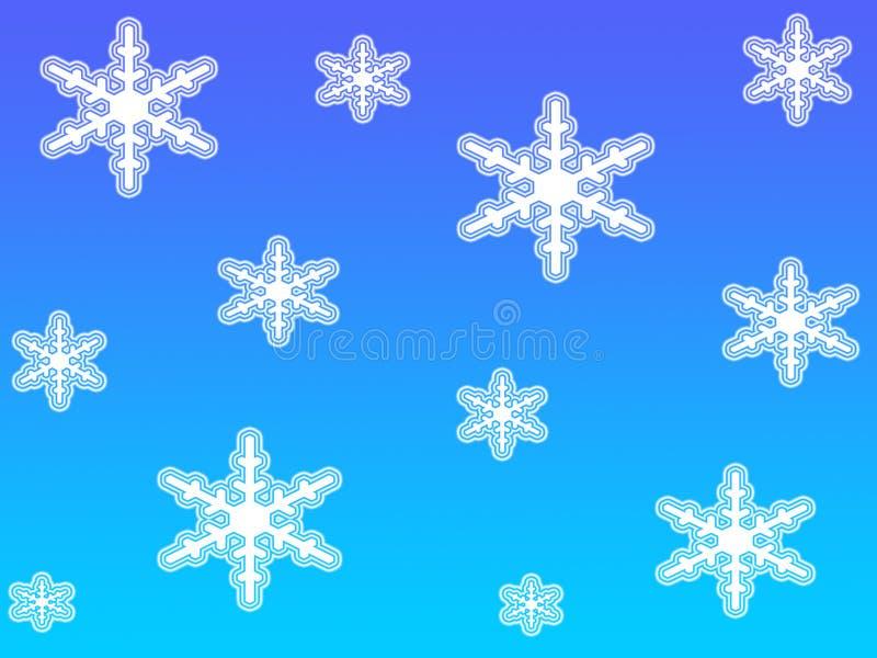 Escamas blancas de la nieve ilustración del vector