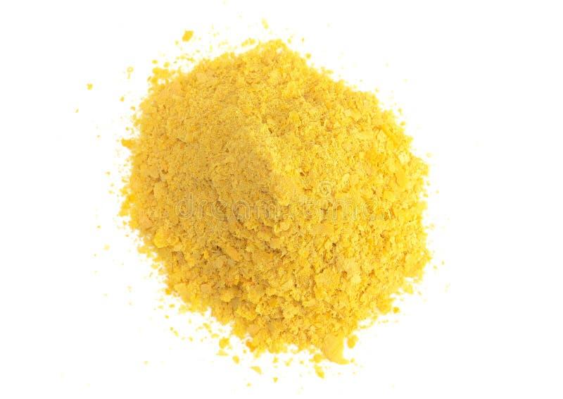 Escamas de la levadura alimenticia amarilla un substituto del queso y aderezo para las dietas del vegano imagen de archivo libre de regalías