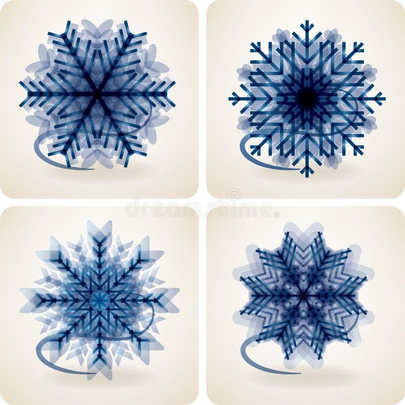 Escamas De La Nieve Fotografía de archivo libre de regalías