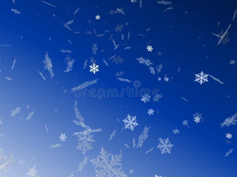 Escamas de la nieve ilustración del vector