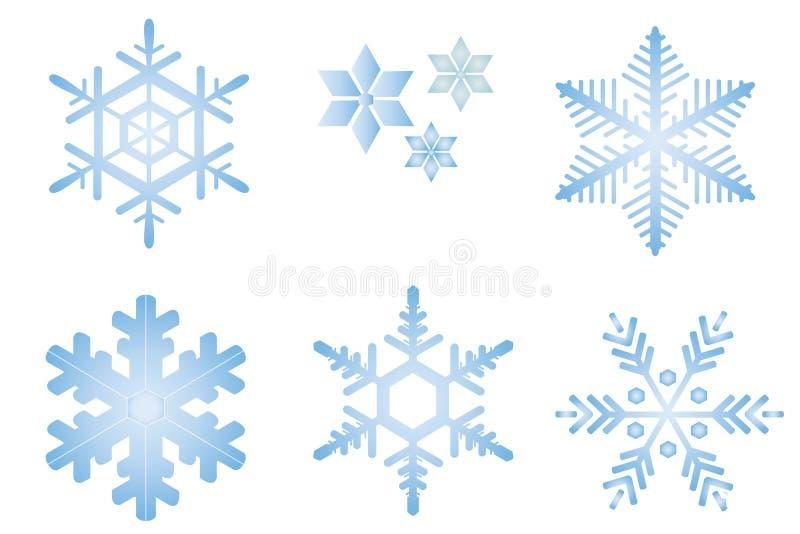 Escamas de la nieve imagenes de archivo