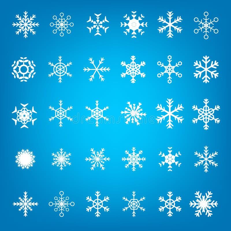 Escamas de la nieve de Christmass ilustración del vector