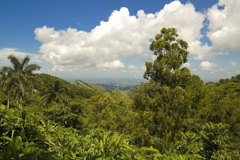 escambray山脉视图 库存图片