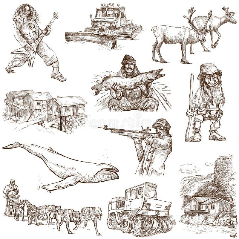 Escandinavia stock de ilustración