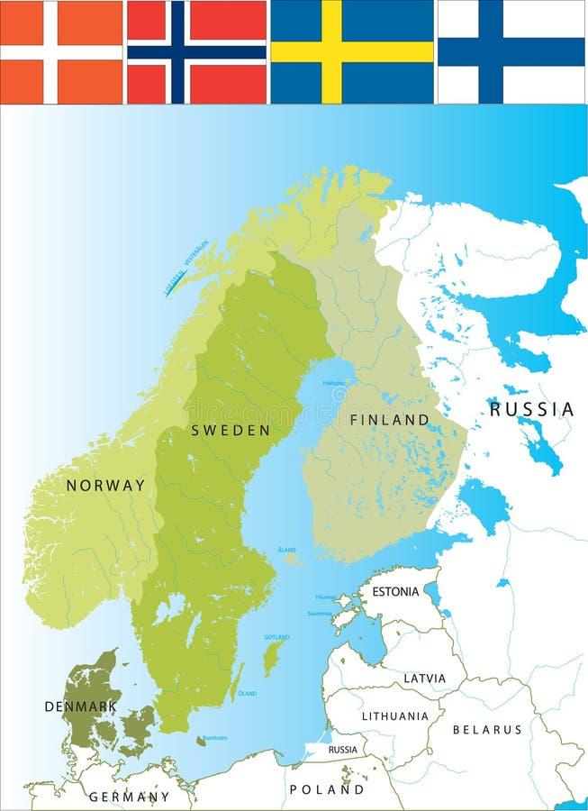 Escandinavia. ilustración del vector