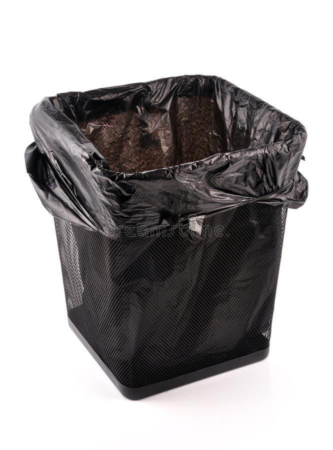 Escaninho de lixo vazio foto de stock