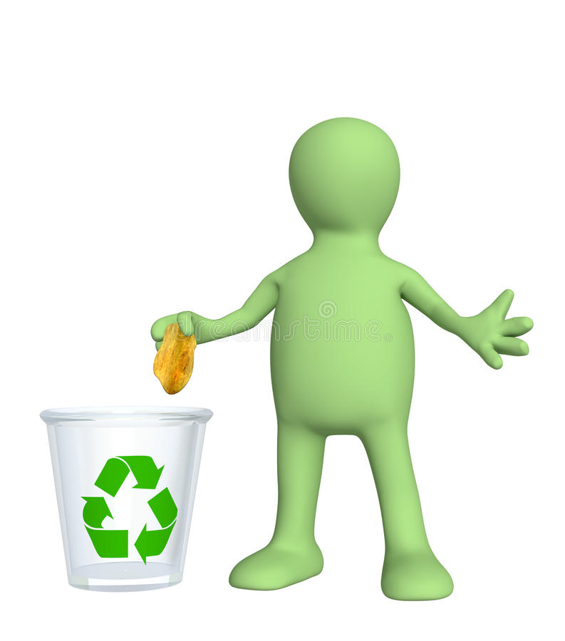 Escaninho de recicl ilustração royalty free