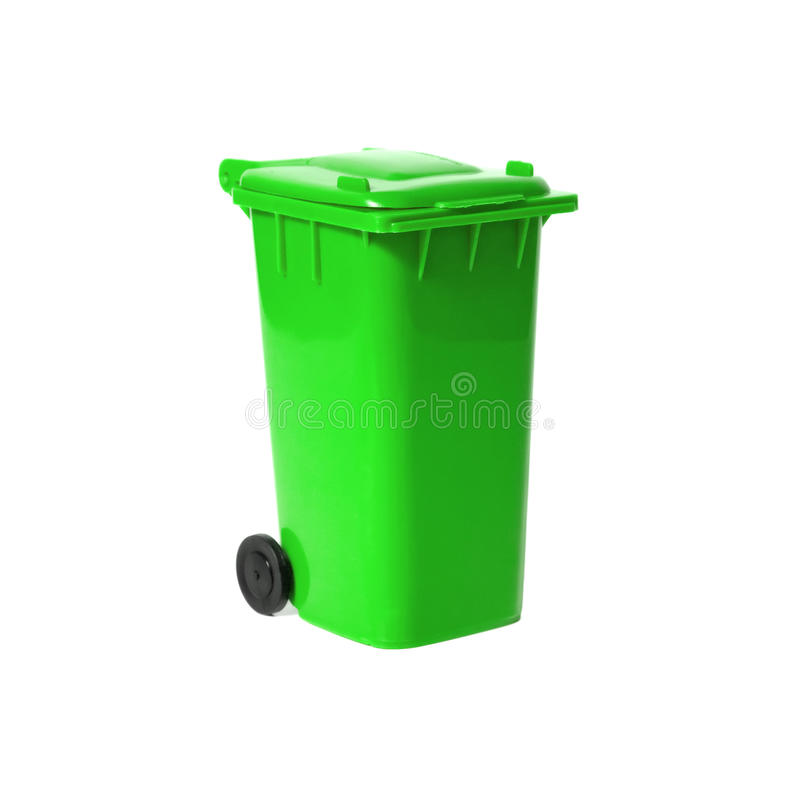 Escaninho de recicl vazio verde imagens de stock