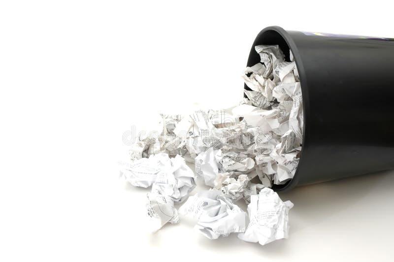 Escaninho enchido com o papel fotos de stock royalty free