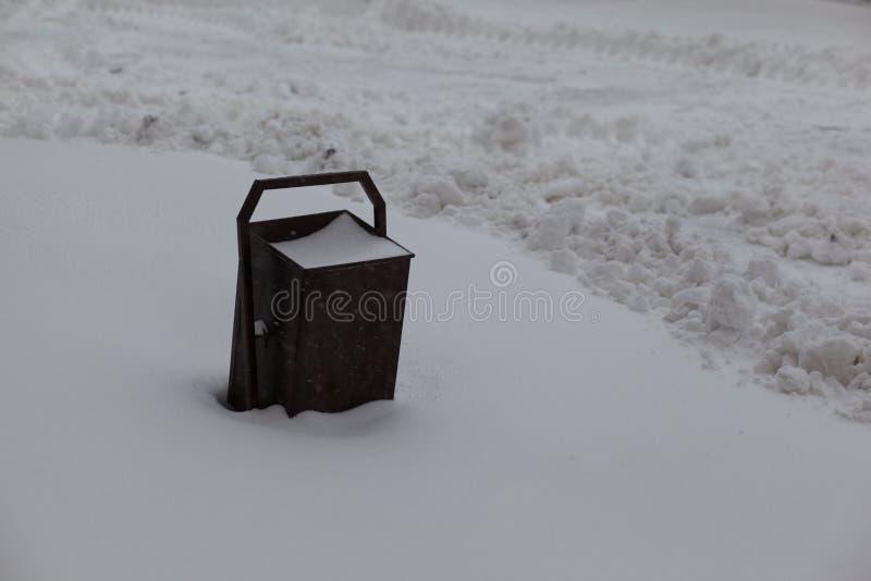 escaninho Inverno e neve fotografia de stock