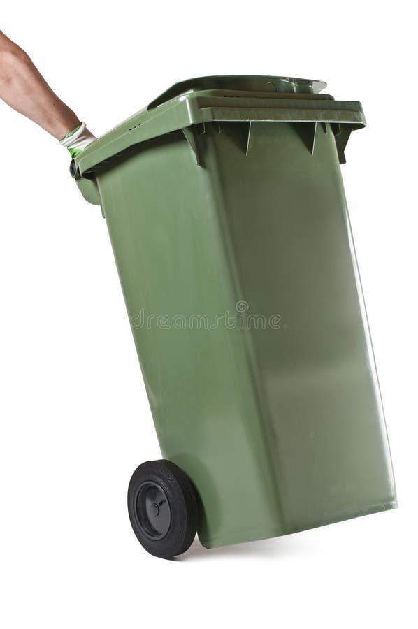 Escaninho verde do Wheelie foto de stock royalty free