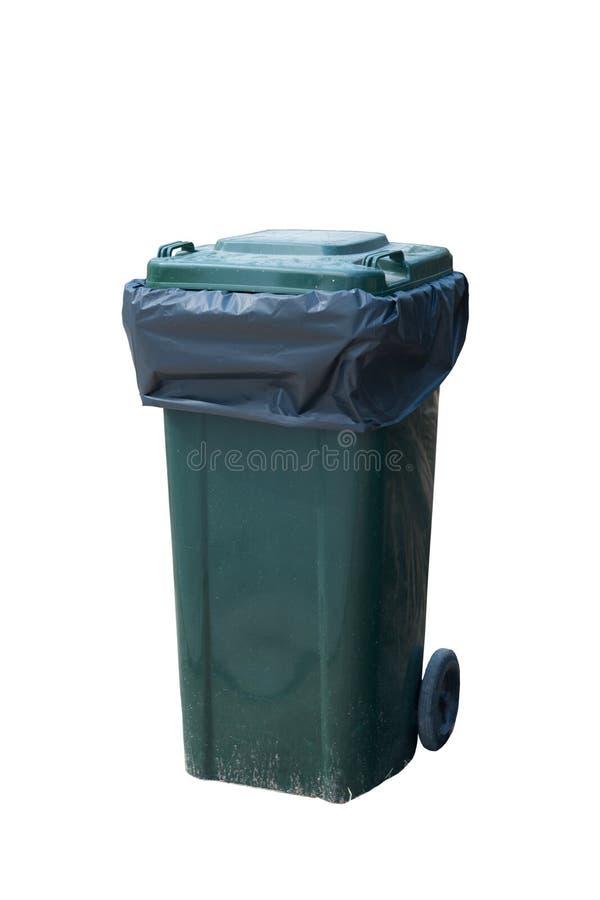 Escaninho verde do Wheelie fotos de stock royalty free