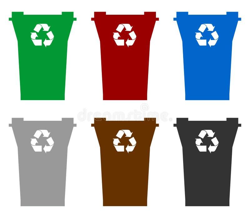 Escaninhos de recicl ilustração stock