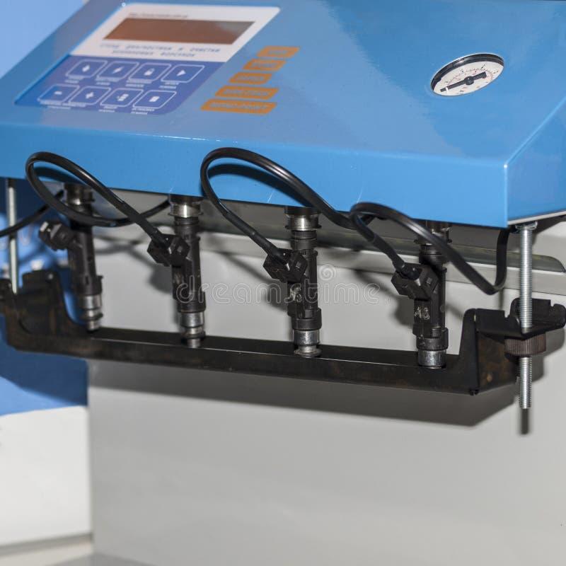 Escantillón para las bocas de limpieza de la inyección de carburante fotografía de archivo libre de regalías