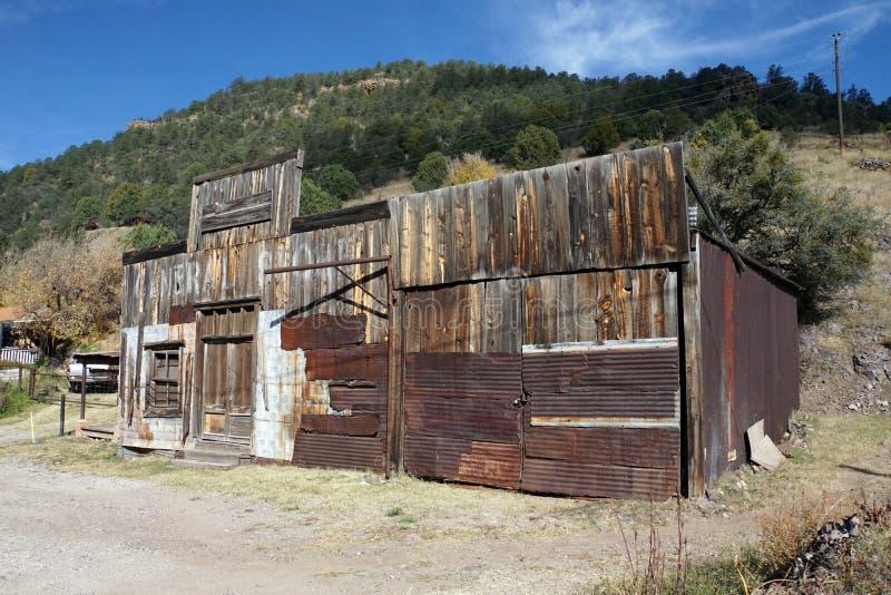 Escaparate abandonado en Gila National Forest Ghost Town foto de archivo libre de regalías