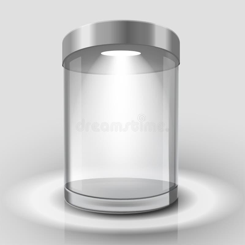 Escaparate de cristal vacío libre illustration