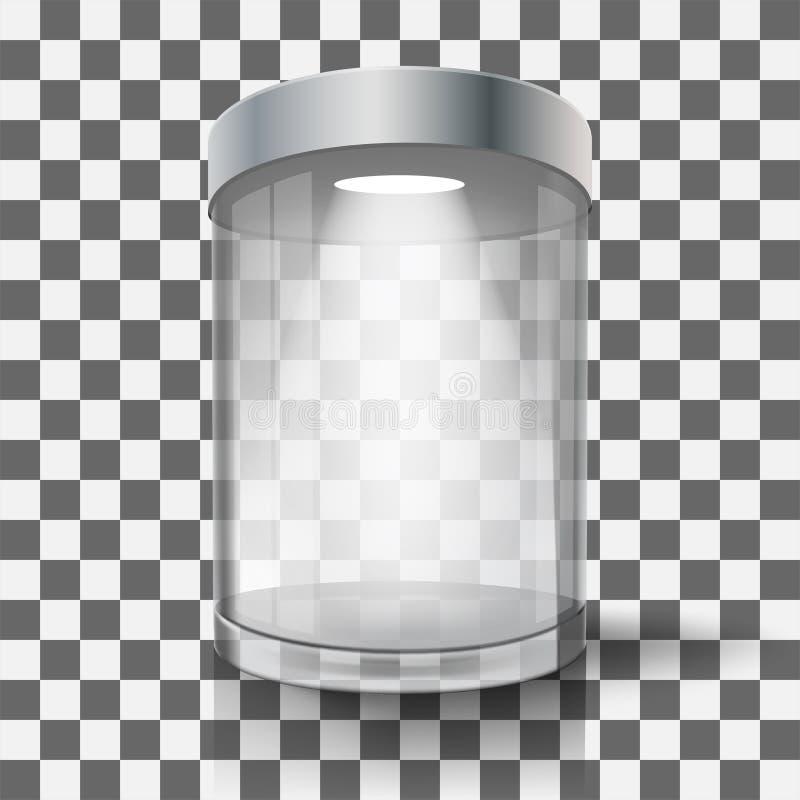 Escaparate de cristal vacío stock de ilustración