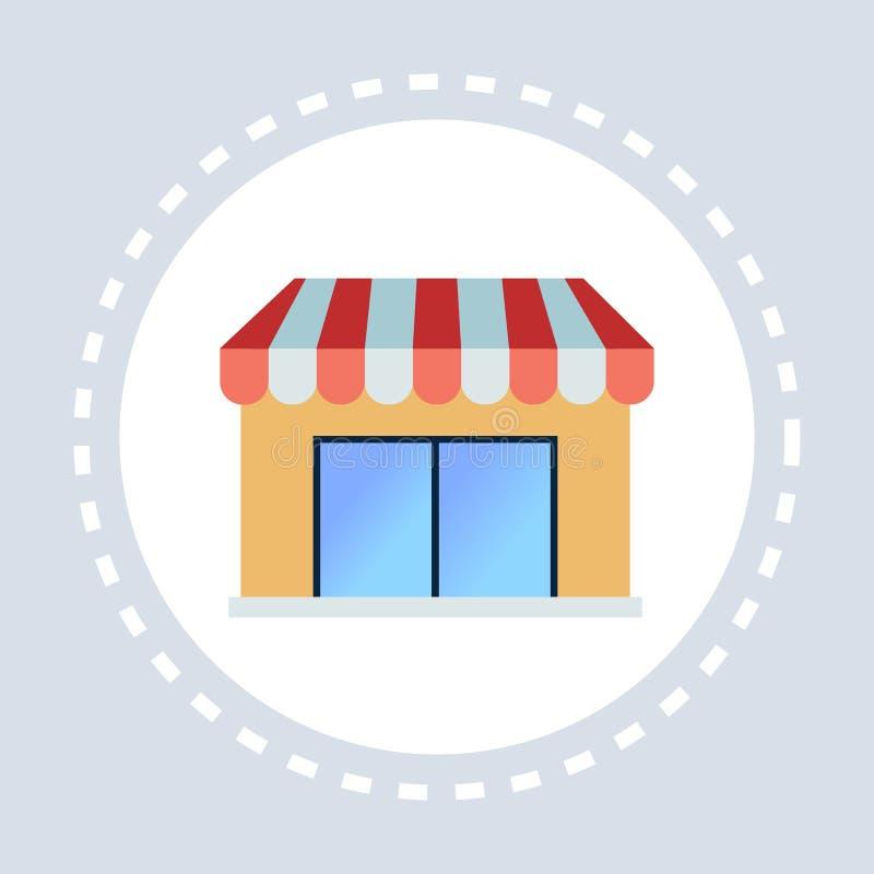 Escaparate de la tienda de la tienda o concepto del icono del supermercado que hace compras completamente libre illustration