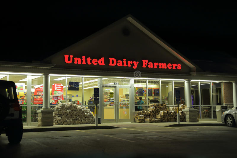 Escaparate unido de los granjeros de lechería en Ohio, los E.E.U.U. fotografía de archivo