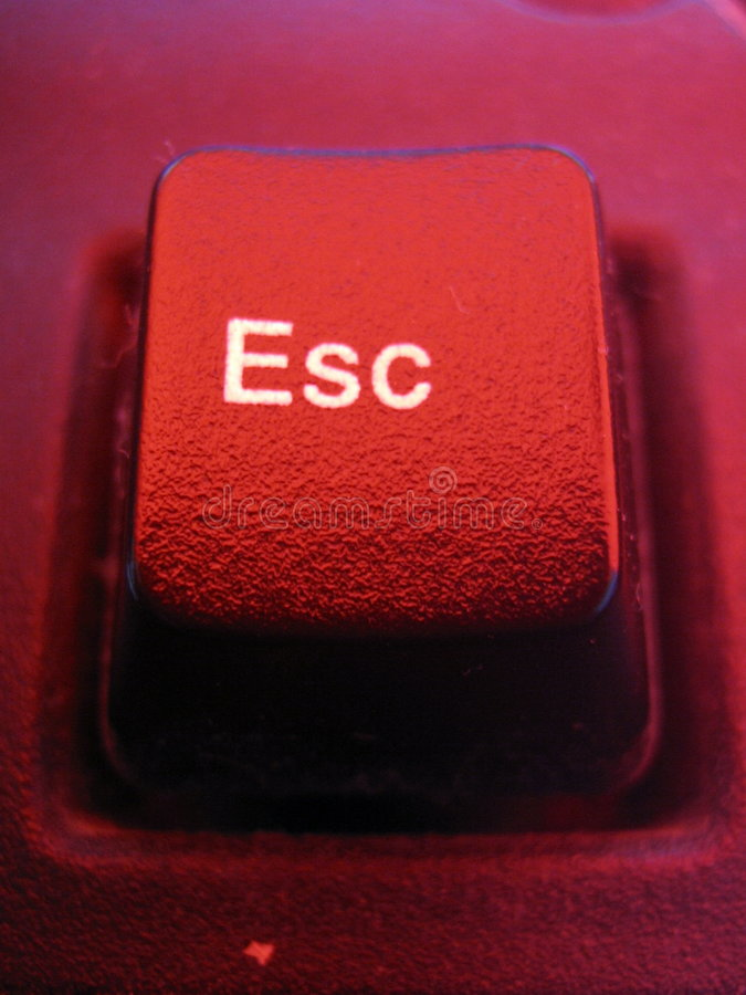 Escape. Key of a computer keyboard royalty free stock photography