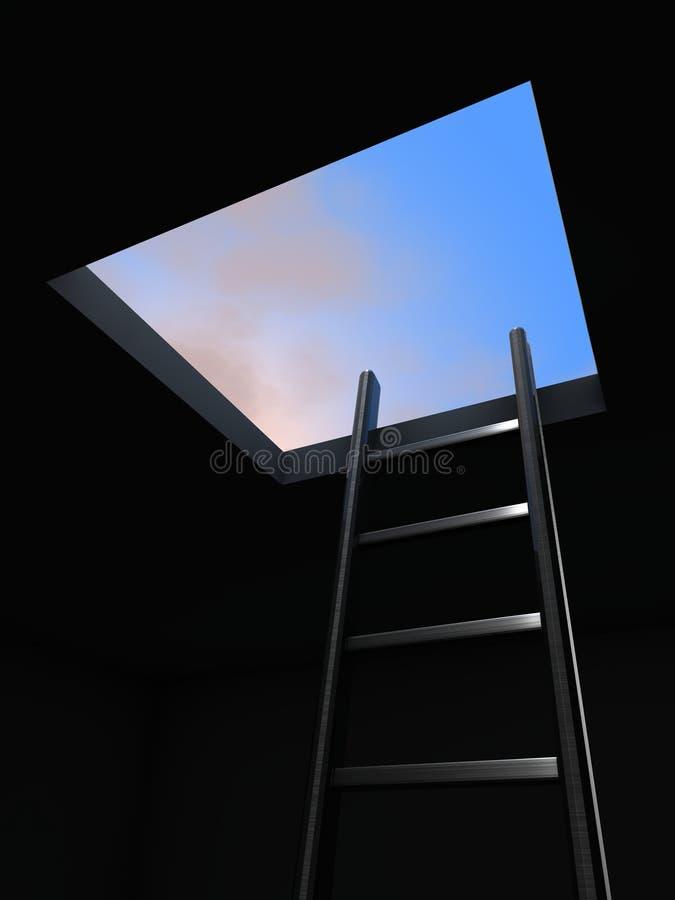 Escape ilustração stock