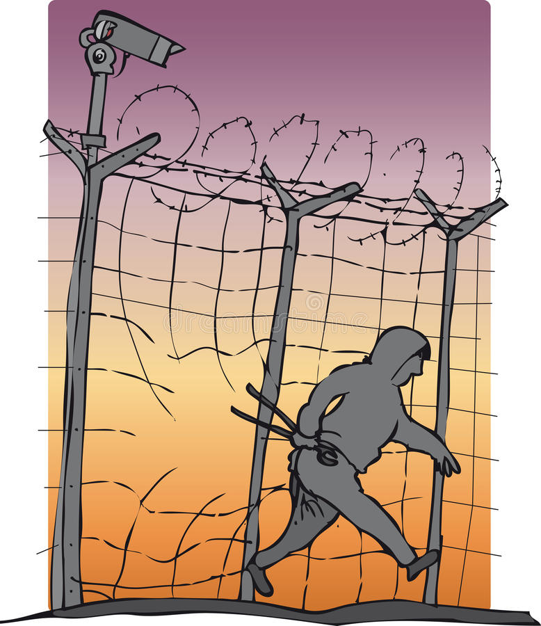 escape royaltyfri illustrationer